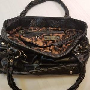 EUC. B Makowsky Large Calfskin Leather Tote